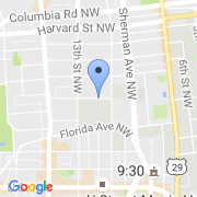 map 1200 Clifton St. NW