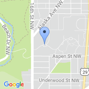 map 1400 Main Drive NW